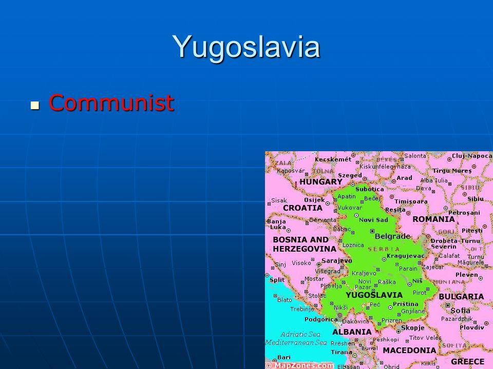 Yugoslavia Communist Communist