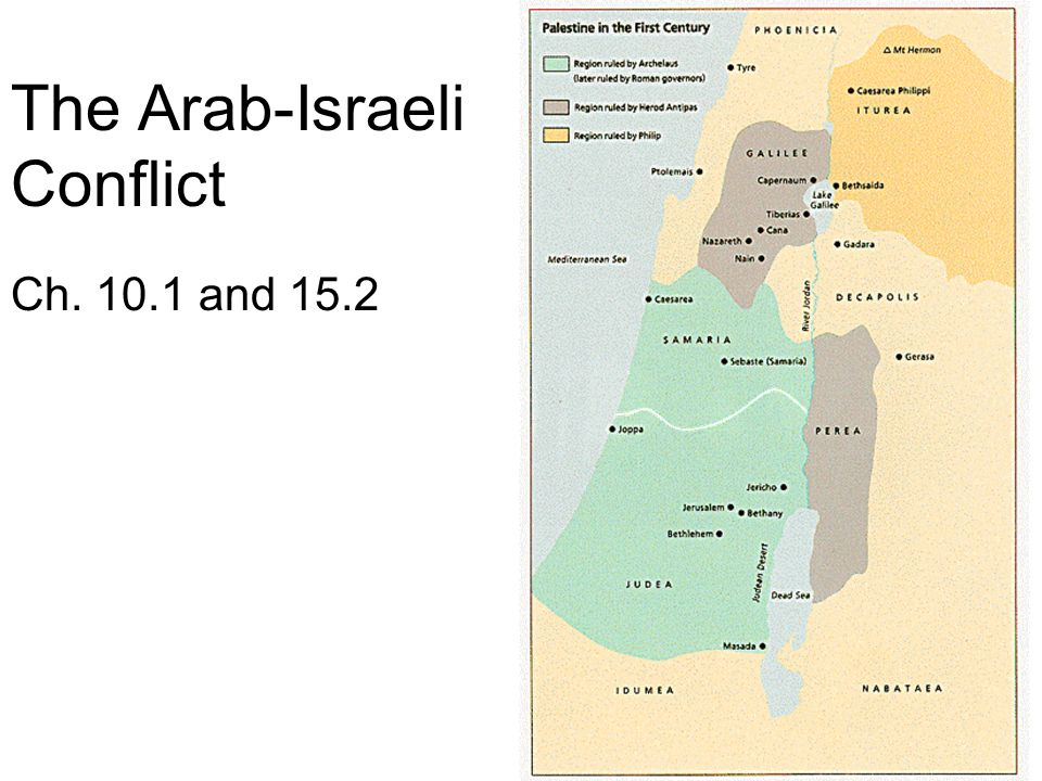 The Arab-Israeli Conflict Ch. 10.1 and 15.2