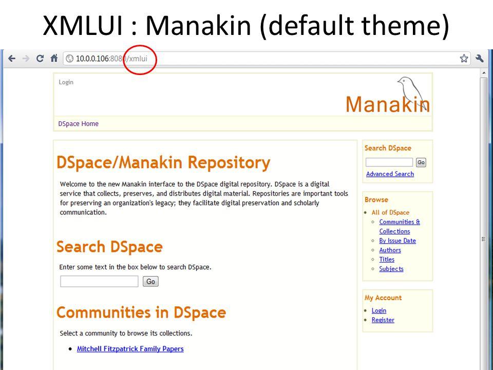 XMLUI : Manakin (default theme)