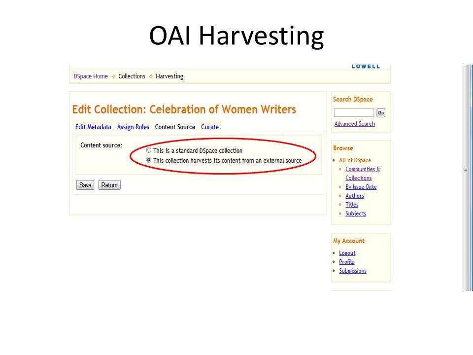 OAI Harvesting