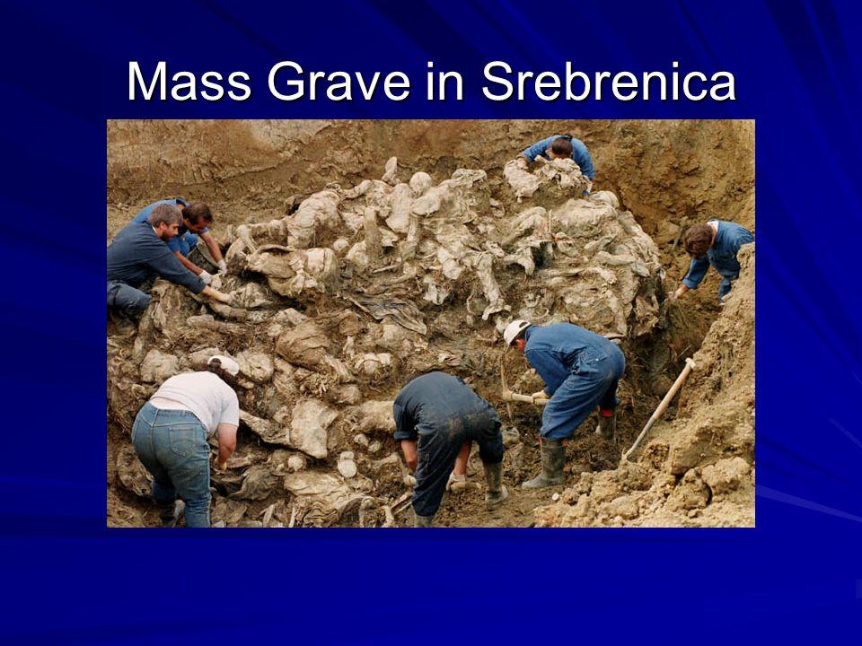 Mass Grave in Srebrenica