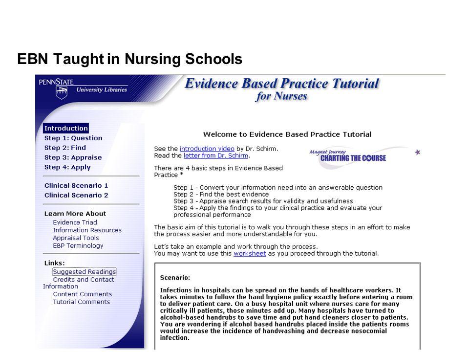 EBN Taught in Nursing Schools