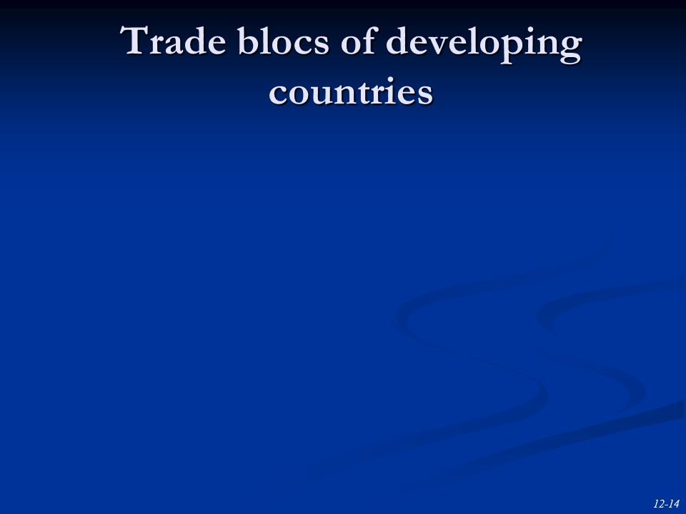 12-14 Trade blocs of developing countries