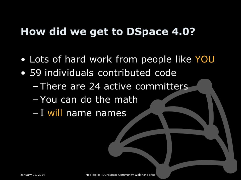 How did we get to DSpace 4.0.