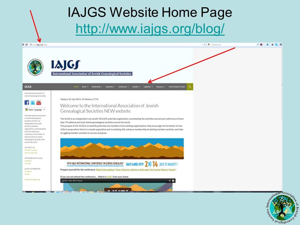 IAJGS Website Home Page http://www.iajgs.org/blog/ http://www.iajgs.org/blog/