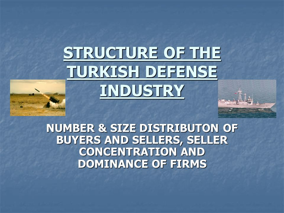 Suggestions for the Turkish Defense Industry We can mention to fulfill the requirements for improving and ensuring the continuity for the Turkish Defense Industry in two main categories; We can mention to fulfill the requirements for improving and ensuring the continuity for the Turkish Defense Industry in two main categories; 1.) Political side 1.) Political side 2.) Application side 2.) Application side