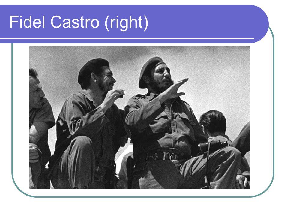 Fidel Castro (right)