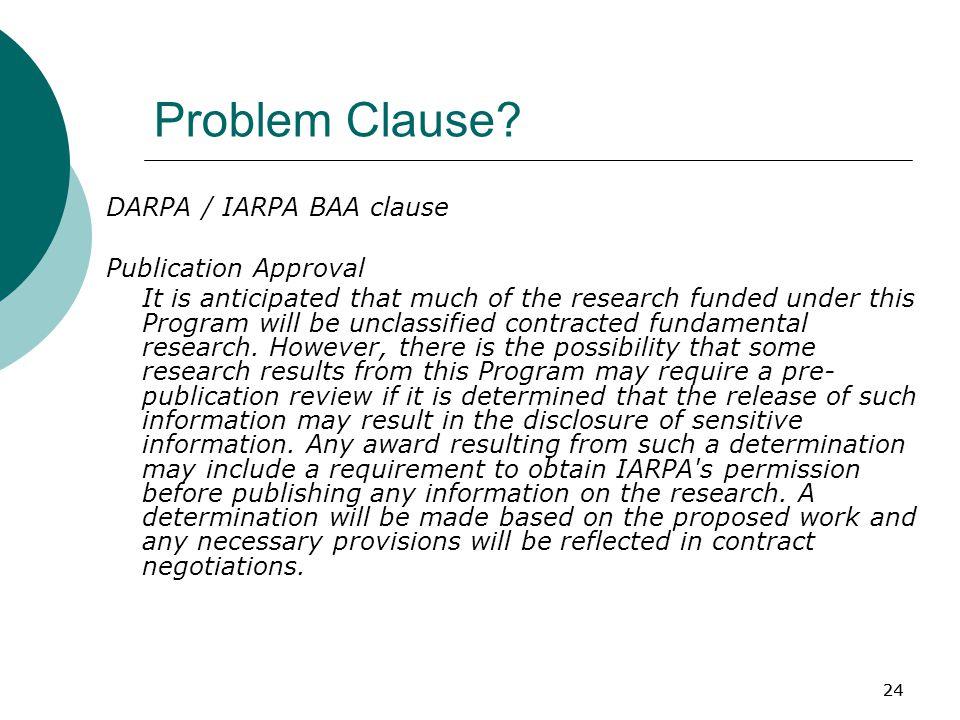 24 Problem Clause.