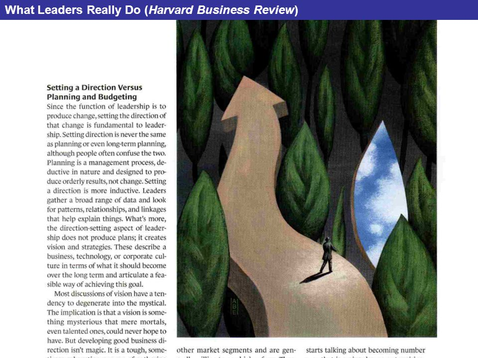 What Leaders Really Do (Harvard Business Review)