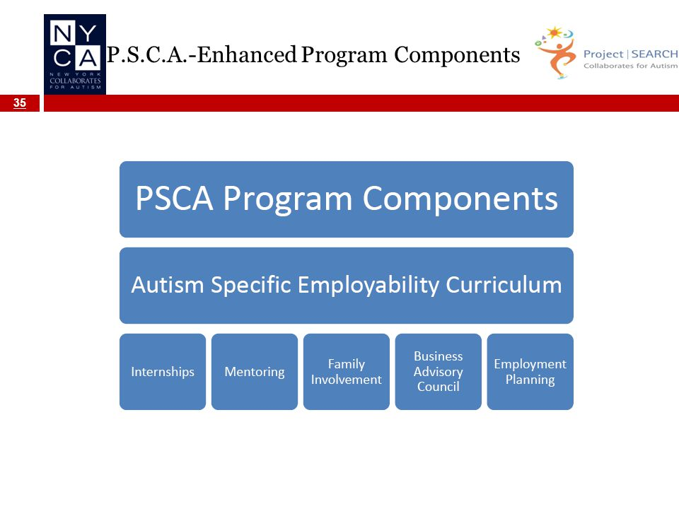 P.S.C.A.-Enhanced Program Components 35