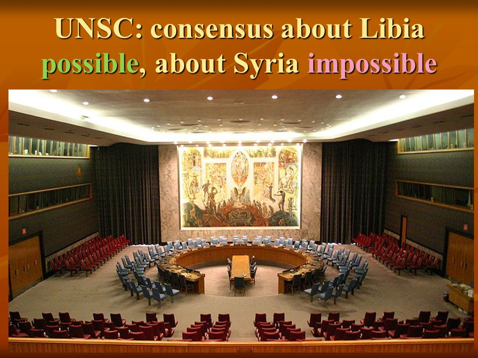 UNSC: consensus about Libia possible, about Syria impossible