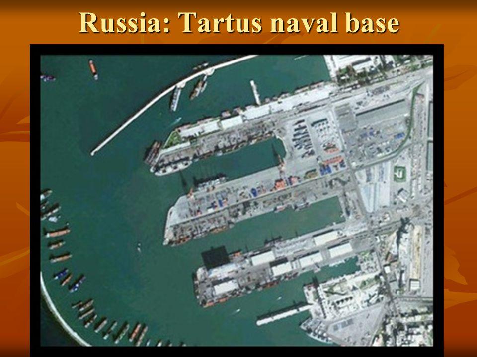 Russia: Tartus naval base