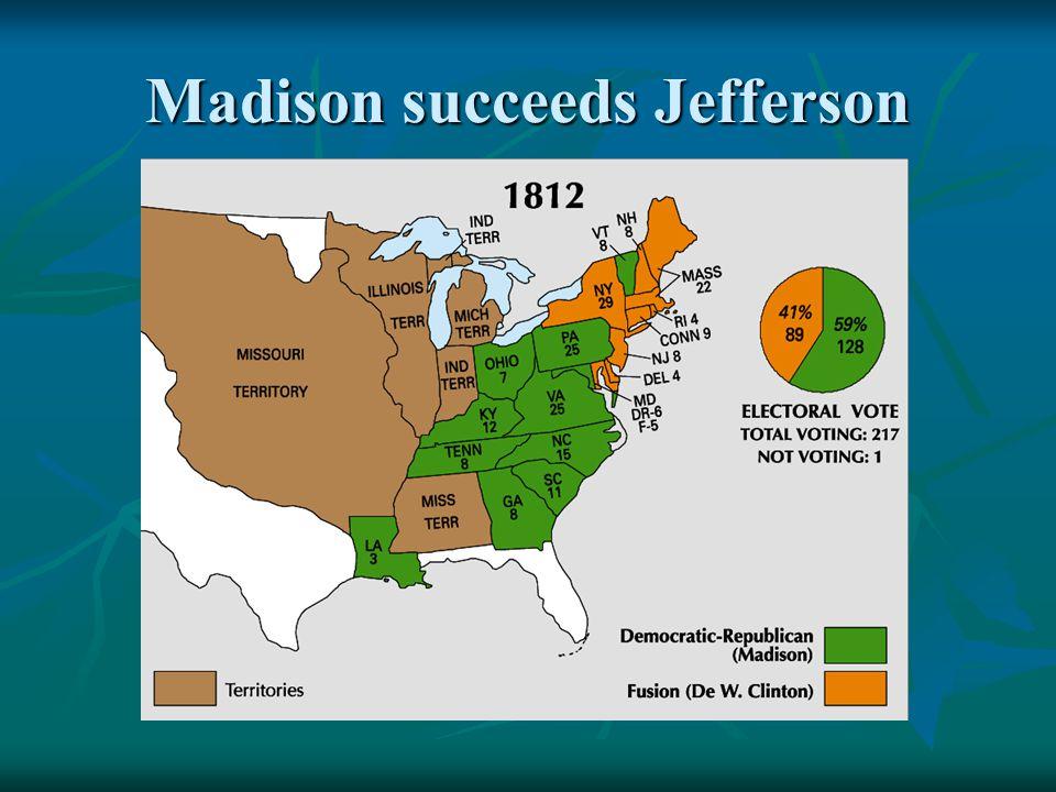 Madison succeeds Jefferson