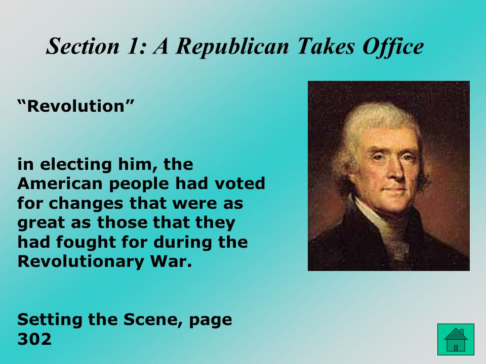 """Section 1: A Republican Takes Office """"Revolution"""" in electing him, the American people had voted for changes that were as great as those that they had"""
