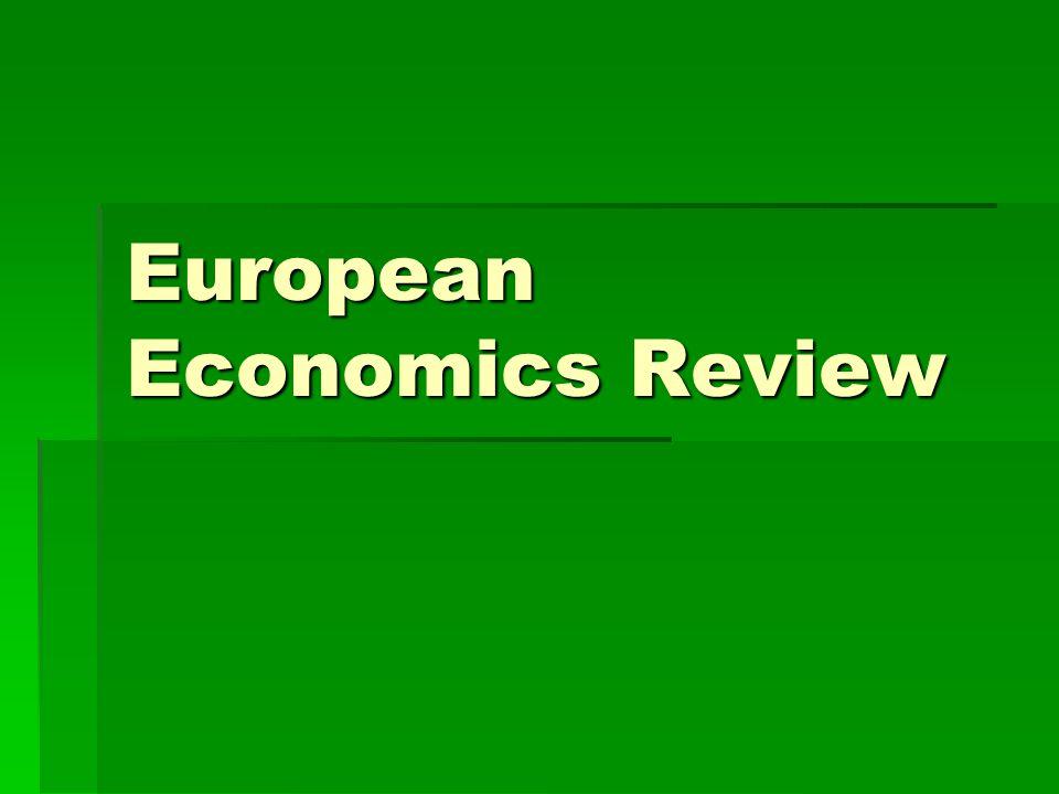 European Economics Review