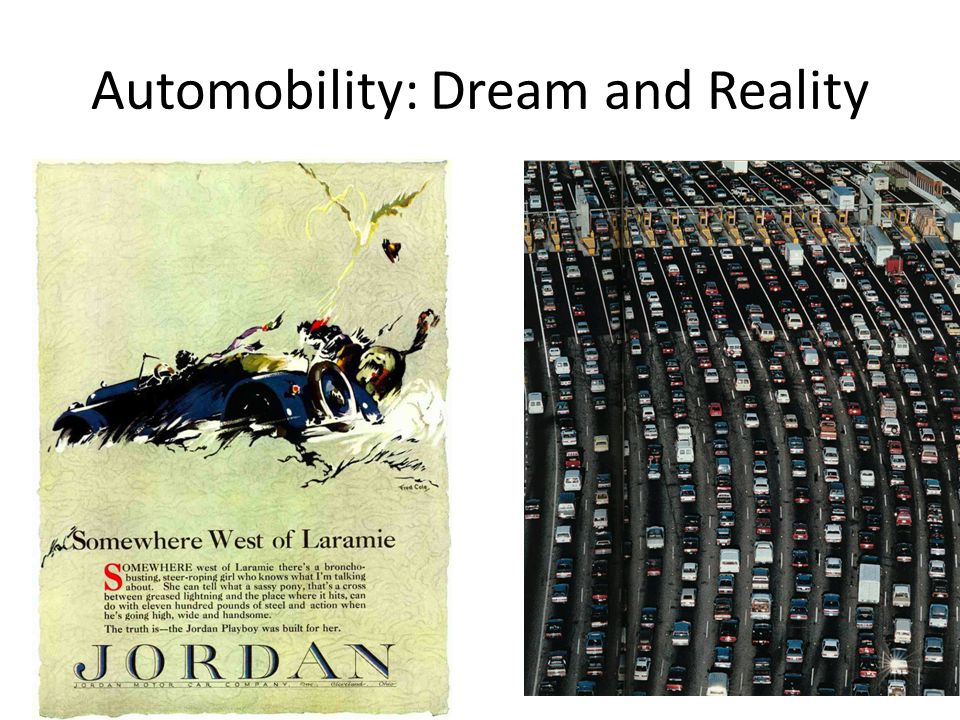 Automobility: Dream and Reality