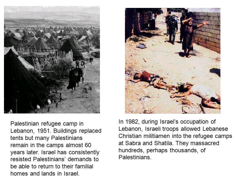 Palestinian refugee camp in Lebanon, 1951.