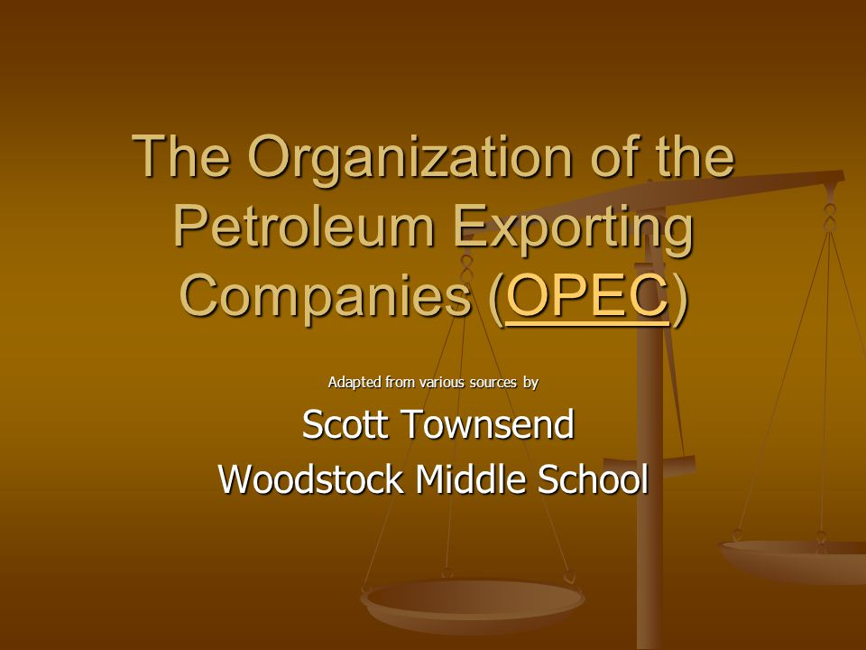 The Organization of the Petroleum Exporting Companies (OPEC) was created in 1960 to unify and protect the interests of oil-producing countries.