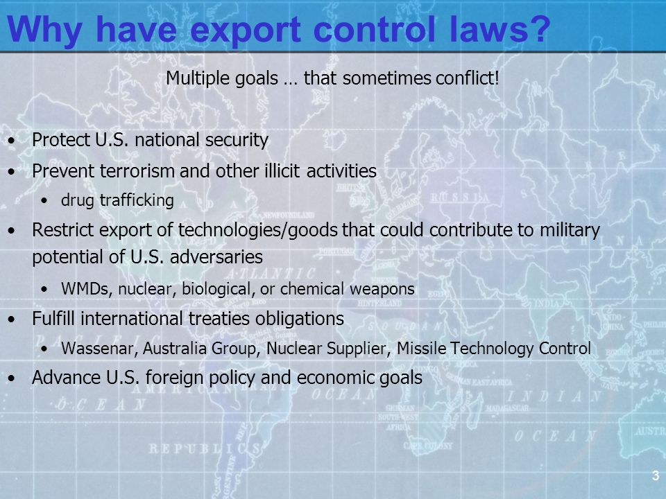 24 University Compliance Factors Universities have been largely immune from export control enforcement.