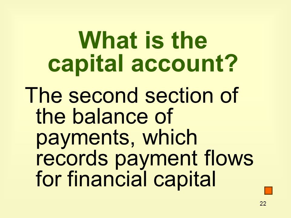 22 What is the capital account.