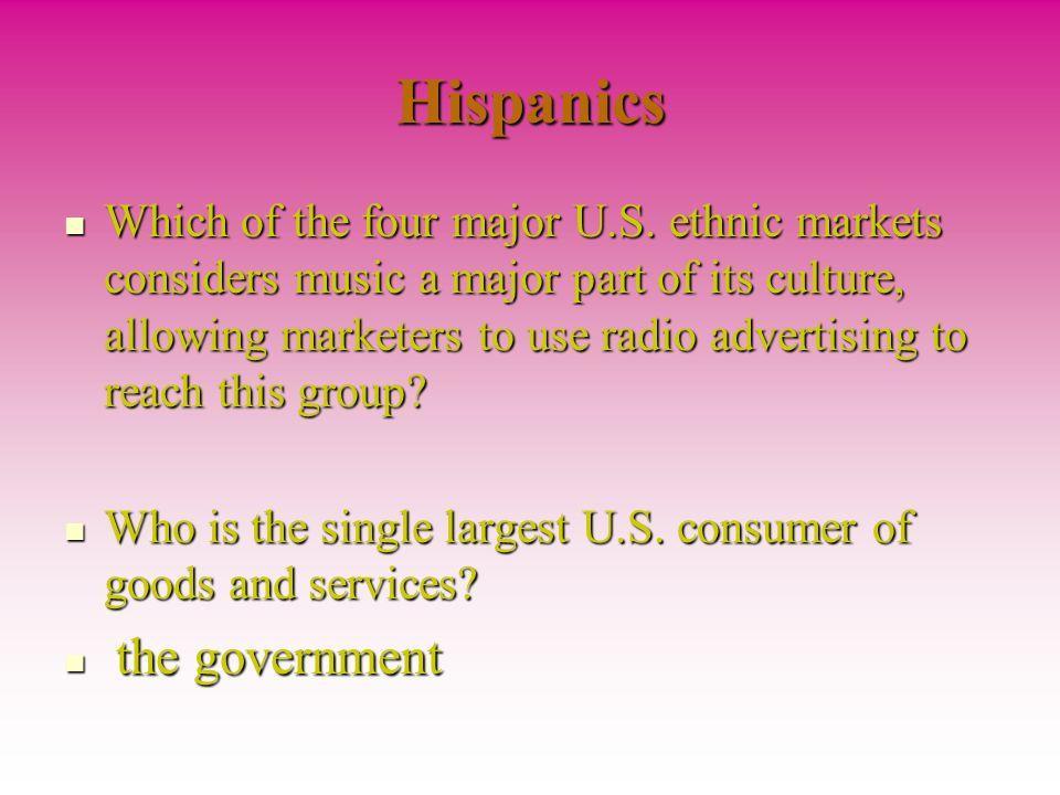 Hispanics Which of the four major U.S.
