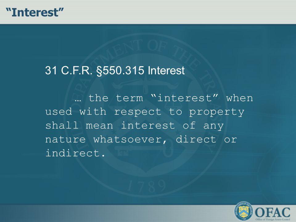 31 C.F.R.