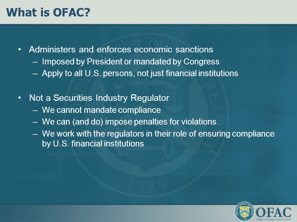 What is OFAC.