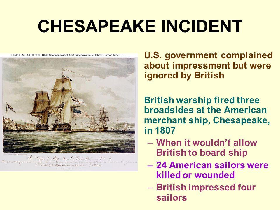 CHESAPEAKE INCIDENT U.S.