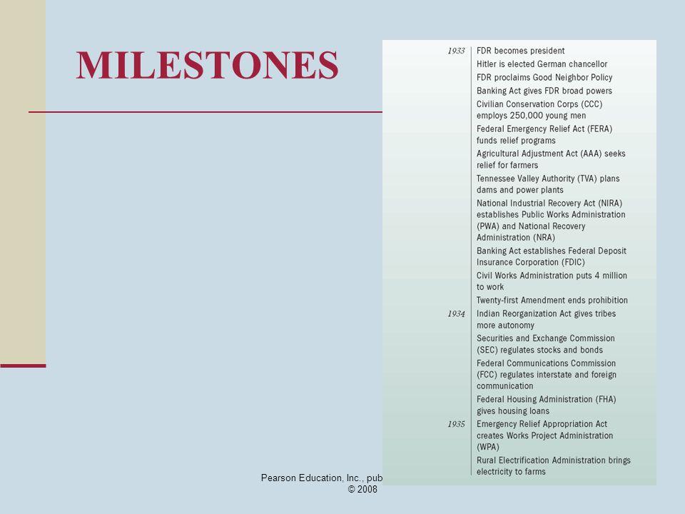 Pearson Education, Inc., publishing as Longman © 2008 MILESTONES