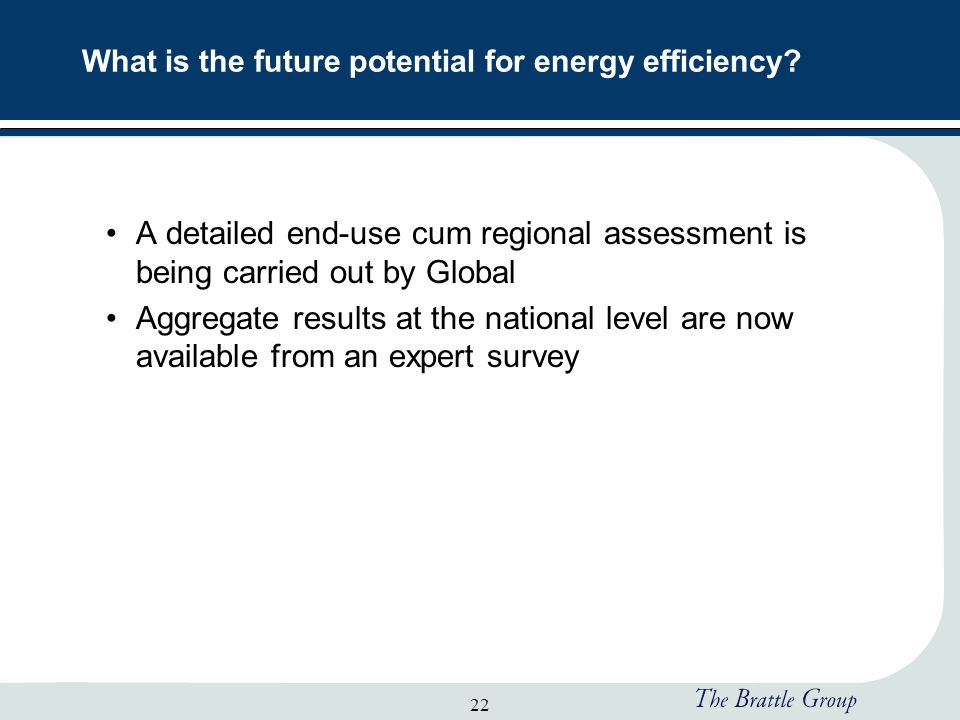 22 What is the future potential for energy efficiency.