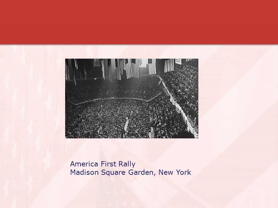 America First Rally Madison Square Garden, New York