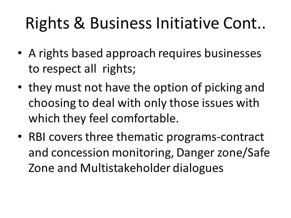 Rights and Business Initiative My task today is to talk about ensuring environmental and social sustainability of natural resources contracts and concessions the Case of Firestone, Arcelor Mittal and Geblo logging co
