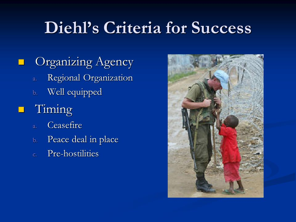 Diehl's Criteria for Success Organizing Agency Organizing Agency a.