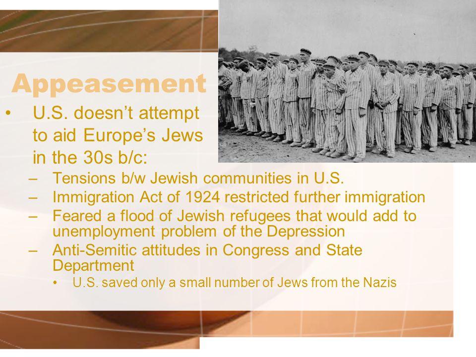 Appeasement U.S.