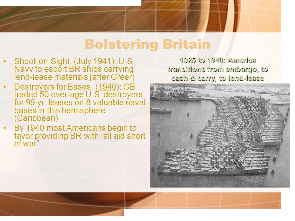 Bolstering Britain Shoot-on-Sight (July 1941): U.S.