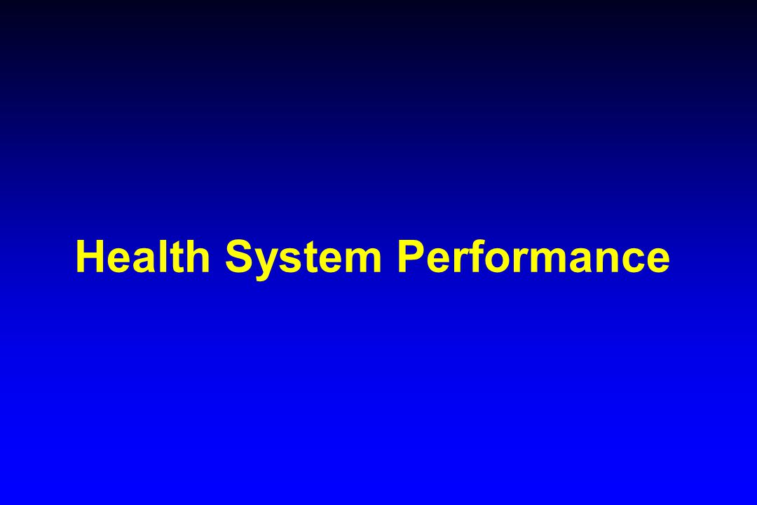 Health System Performance