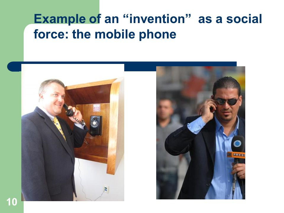 10 Example of an invention as a social force: the mobile phone