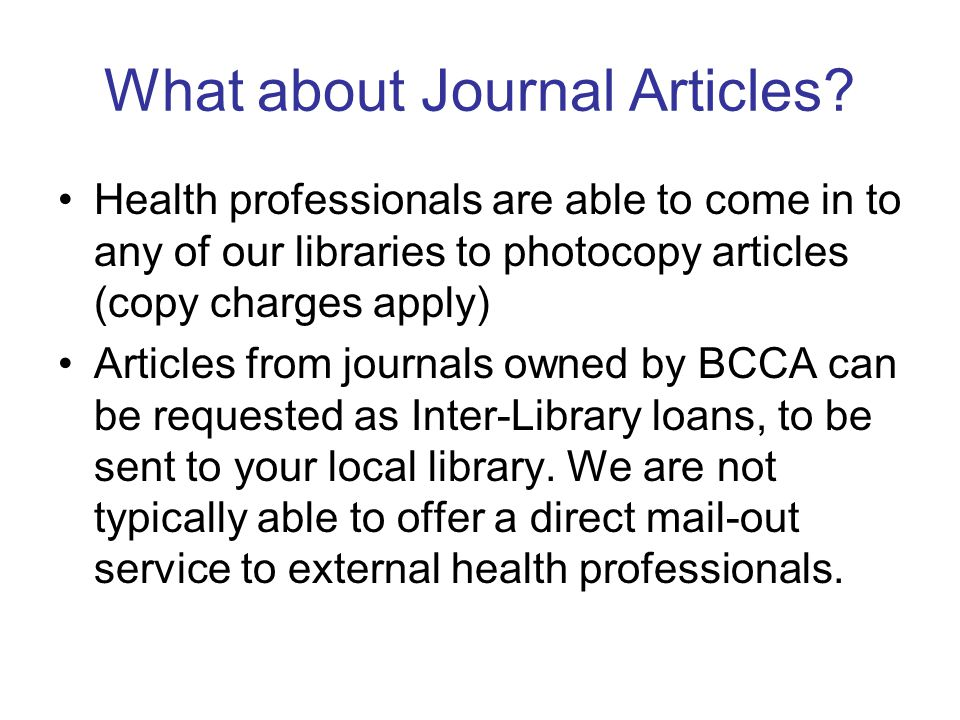 What about Journal Articles.