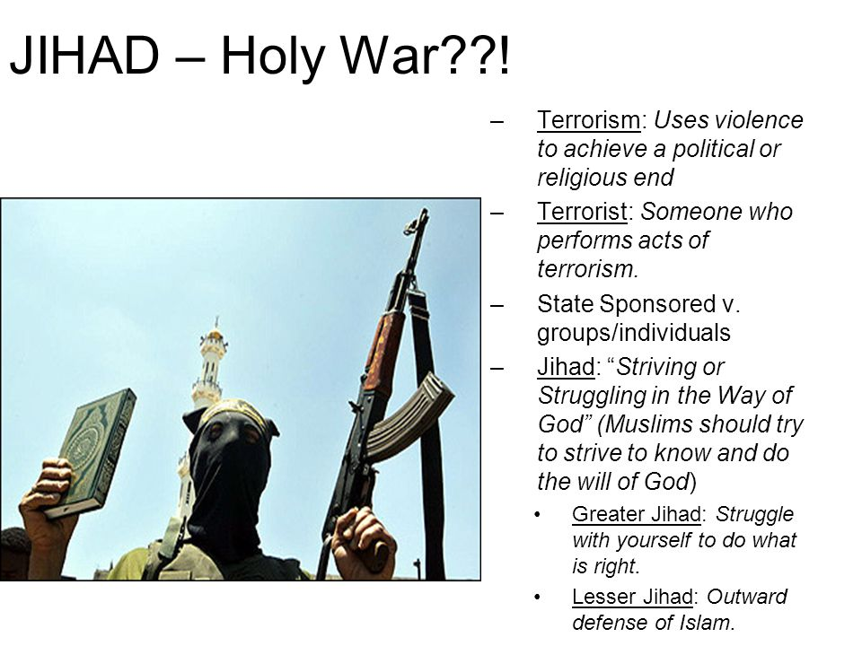 JIHAD – Holy War .