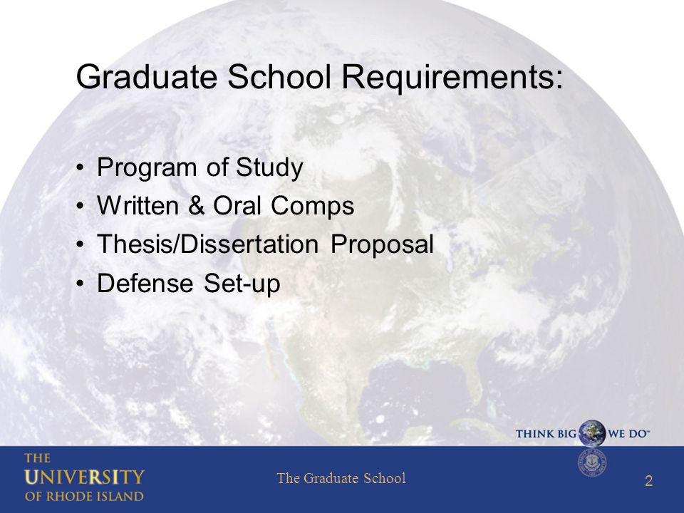 The Graduate School 43 Thesis Template