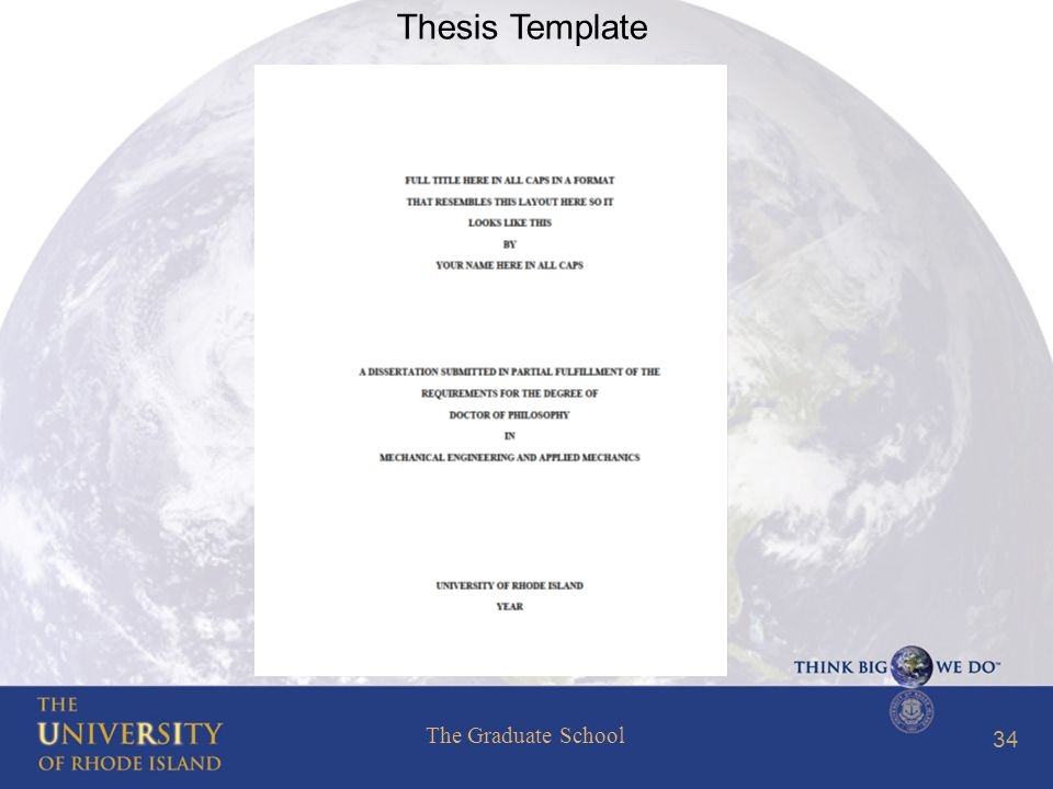 The Graduate School 34 Thesis Template