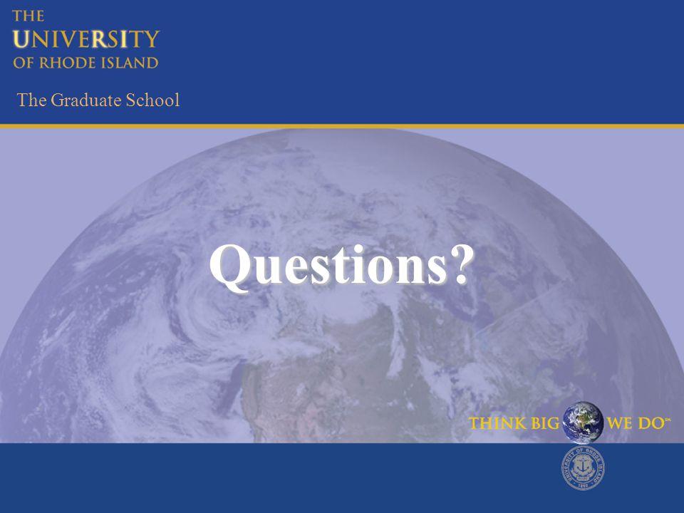 The Graduate School Questions