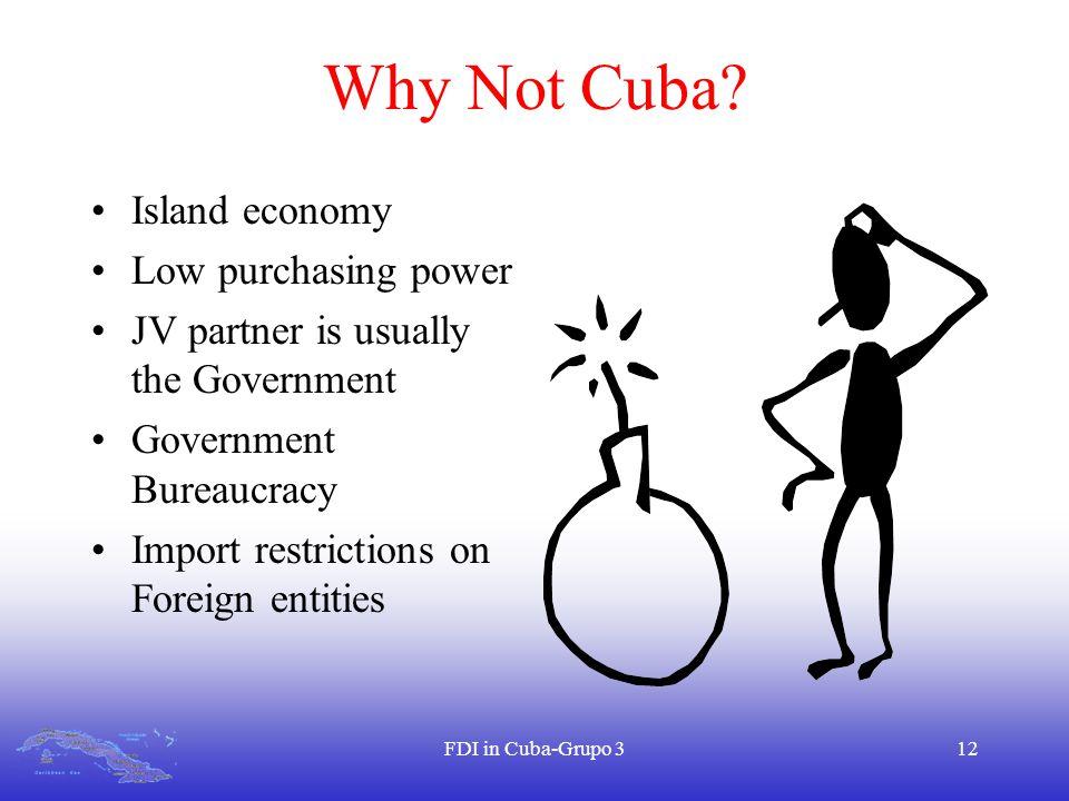 FDI in Cuba-Grupo 312 Why Not Cuba.