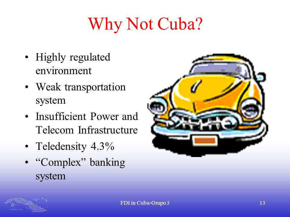 FDI in Cuba-Grupo 313 Why Not Cuba.