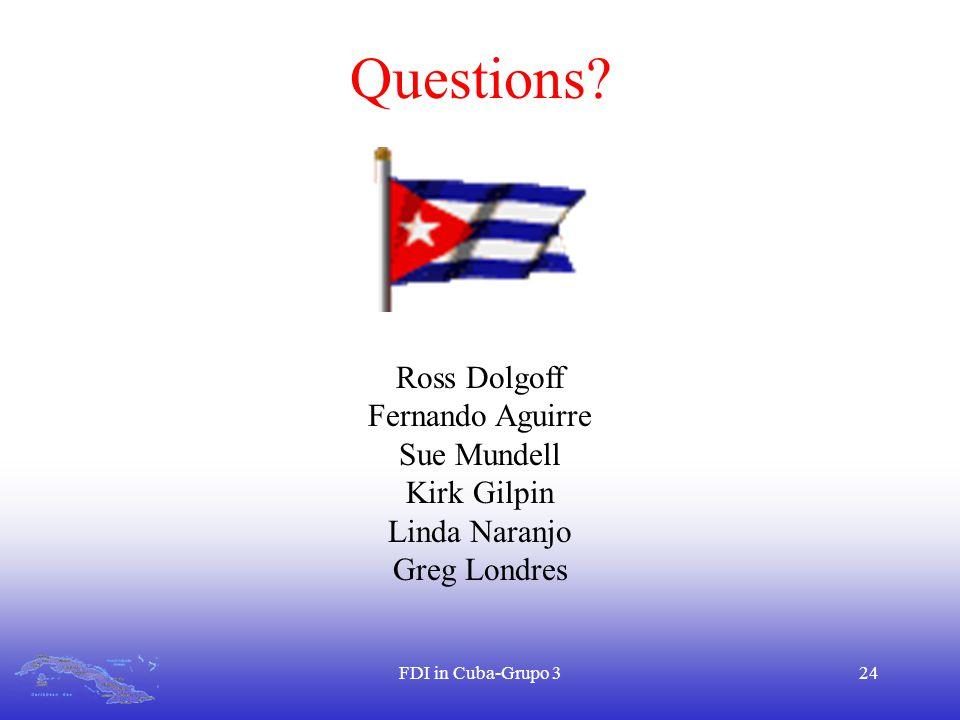 FDI in Cuba-Grupo 324 Questions.