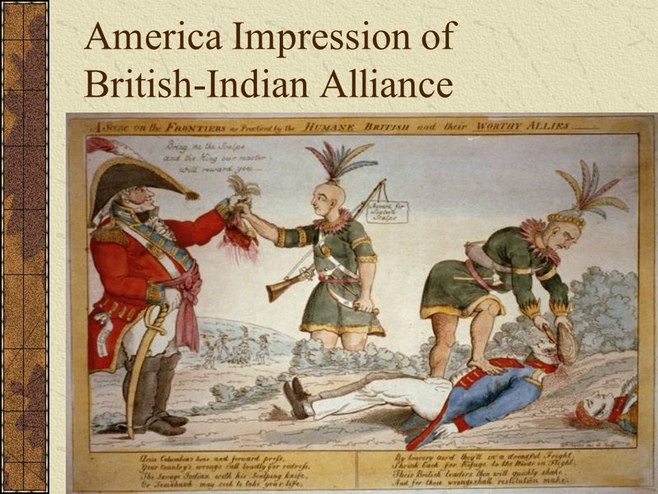 America Impression of British-Indian Alliance