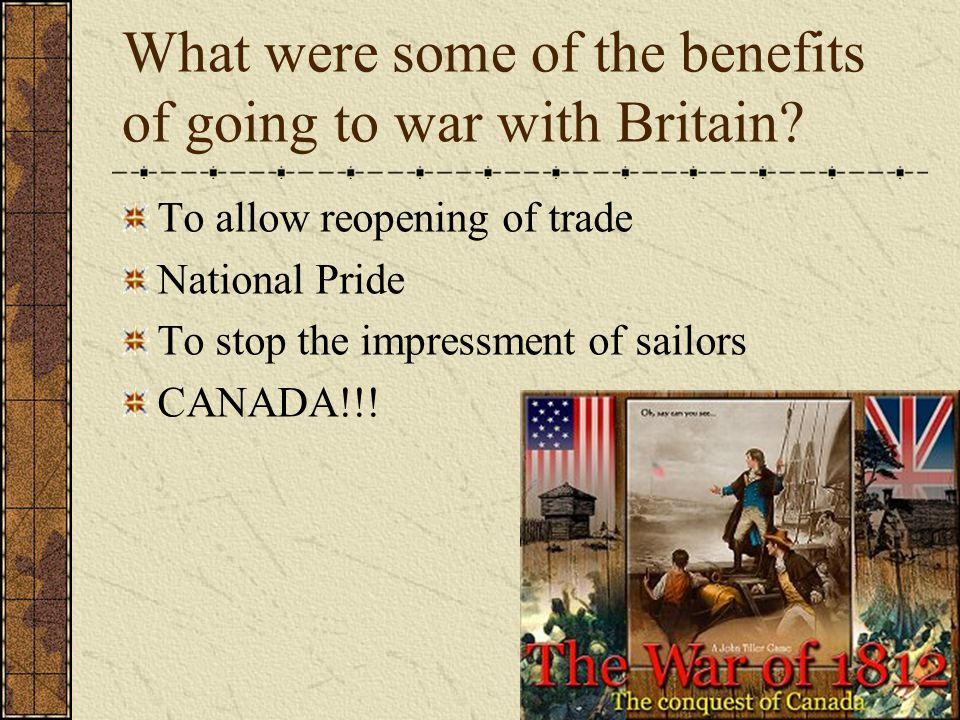 What were some drawbacks to going to war.