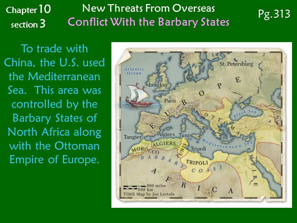 To trade with China, the U.S.used the Mediterranean Sea.