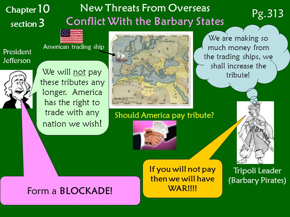 American trading ship Tripoli Leader (Barbary Pirates) Should America pay tribute.