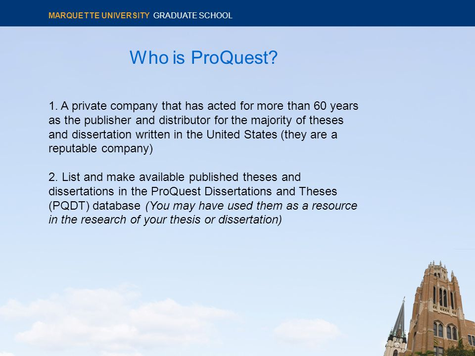 Who is ProQuest. 1.
